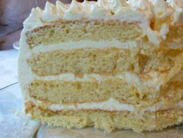 Lemon Layer Cake With Lemon Curd and Mascarpone. Photo by Fiddler