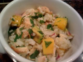 Chicken, Mango, and Rice Salad. Photo by Mmmama