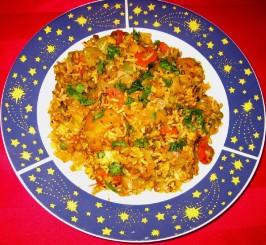 Taste of Heaven - Mushroom and Carrots Biryani. Photo by eatrealfood