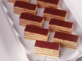 Dobosh Torte (Seven Layer Torte). Photo by Sladja