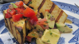 Grilled Tofu with Grapefruit and Avocado Salsa. Photo by magpie diner