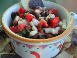 Black Bean and Corn Salad ( Dip ). Photo by Kumquat the Cat's friend