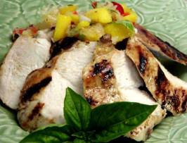 Grilled Chicken Breast with Spicy Pineapple Mango Salsa. Photo by Rita~