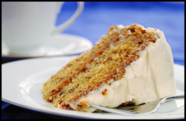 Best Ever Banana Cake With Cream Cheese Frosting. Photo by Dine & Dish