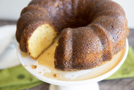 Rum Cake. Photo by Dine & Dish