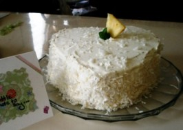 Lemon Layer Cake With Pineapple Filling. Photo by Mommy H.
