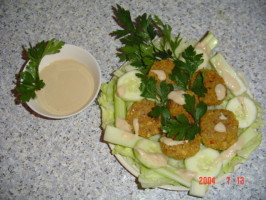 Falafel With Taratoor Sauce. Photo by Kitty Z