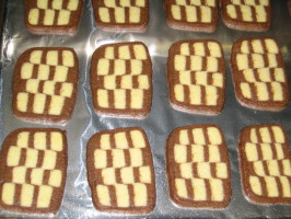 Checkerboard Cookies. Photo by brokenburner