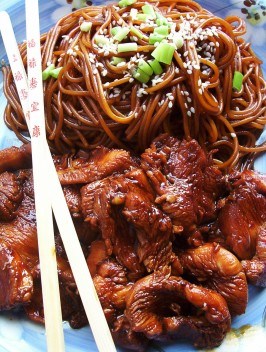 Funky Chicken With Sesame Noodles. Photo by * Pamela *