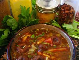 Subru Uncle's Delicious S. Indian Sambar Veg Curry We All Love. Photo by bonitabanana