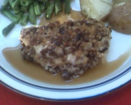 Pecan Chicken With Maple Pecan Sauce. Photo by NorthwestGal
