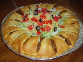Taco Ring (From Pampered Chef). Photo by noreenadsit
