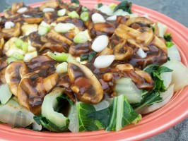 Baby Bok Choy With Mushrooms and Tofu. Photo by *Parsley*
