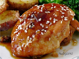Korean Roast Chicken Thighs. Photo by PaulaG