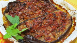 Imam Bayildi (A Stuffed Eggplant Recipe from Asia Minor). Photo by Rita~