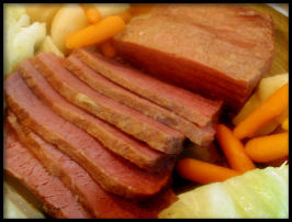 Corned Beef and Cabbage in Guinness. Photo by Sandi (From CA)