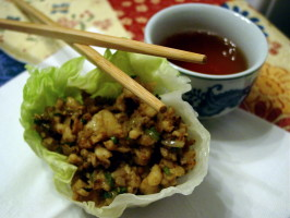 Martin Yan's Lettuce Cups. Photo by Literary Mom