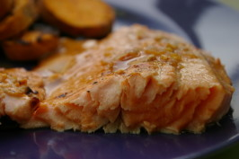 Orange Marmalade Marinated Salmon, Chicken or Pork. Photo by Redsie
