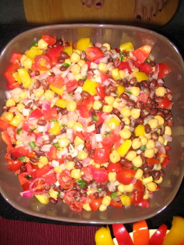 Colorful Chickpea and Black Bean Salad. Photo by spatchcock