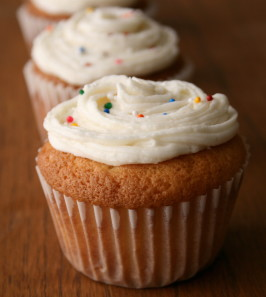 Kittencal's Easy One-Bowl Vanilla Cupcakes. Photo by Cookin-jo