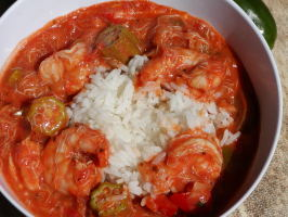 Gumbo With Shrimp, Crab & Andouille Sausage With Okra. Photo by Rita~