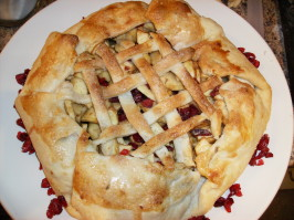 Rustic Apple and Dried Cranberry Pie. Photo by Chef #630709