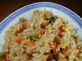 Microwave Fried Rice. Photo by Chef floWer
