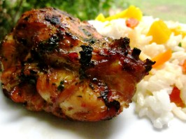 Thai Grilled Chicken Thighs. Photo by gailanng