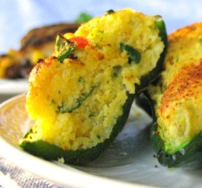 Corn Muffin Poblano Cups