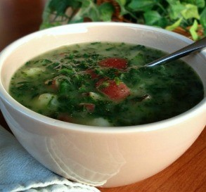 Potato Spinach Soup