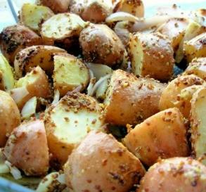 Mustard-Crusted New Potatoes