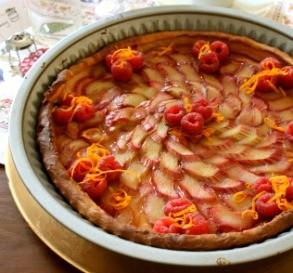 Rhubarb Tart with Orange Glaze