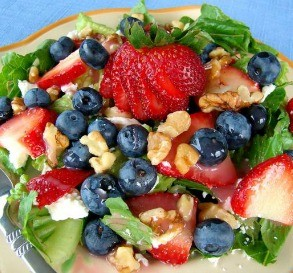 Red, White & Blueberry Salad