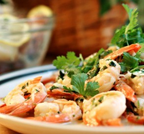 Shrimp With Cilantro and Lime