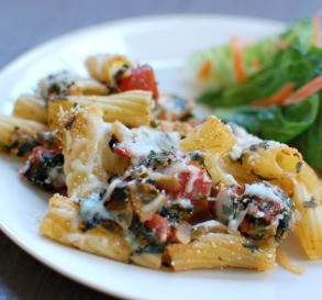 Chicken & Spinach Rigatoni Casserole