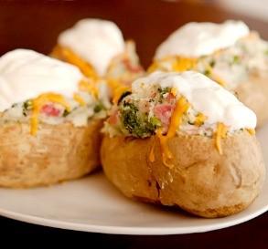 Weight Watchers Ham & Cheese-Stuffed Potatoes