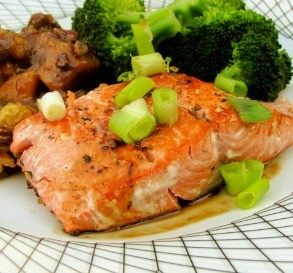 Weight Watchers Honey-Glazed Wasabi Salmon