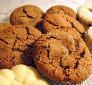 double ginger cookies these are like thin chewy gingersnaps i brought ...