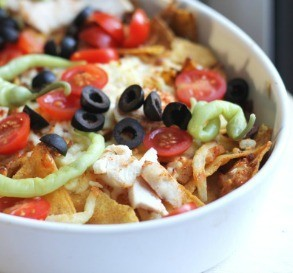 Easy Chicken Nachos