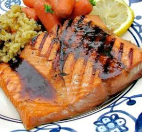 4-Point Grilled Teriyaki Salmon