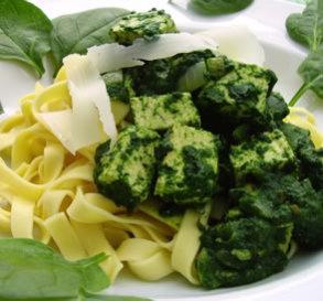 Spinach & Tofu Pasta