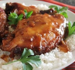 Slow-Cooker Garlic Glazed Chicken
