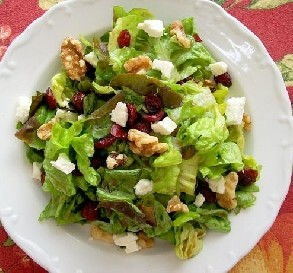 Cranberry, Feta & Walnut Salad