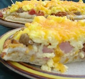 Three-Meat Breakfast Pizza