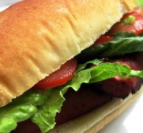 Grilled Kielbasa Sandwiches