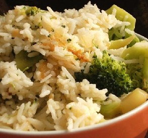 Mar. 12:  Cheesy Rice and Broccoli