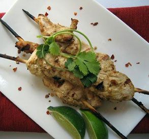 Apr. 27:  Skewered Chicken With Peanut Sauce