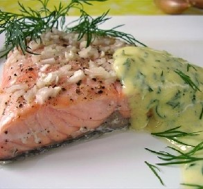Day 1: Salmon With Mustard Sauce