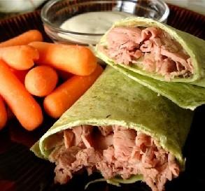 Yummy, Fast & Easy Roast Beef Wrap