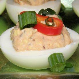 July 1:  Firecracker Deviled Eggs